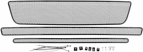 Сетка на бампер внешняя Arbori, для Ford Explorer 2015->, для автомобилей без камеры, 3 шт