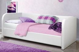 Кровать Vegas Локи 100x190, экокожа, белый, п/м основания
