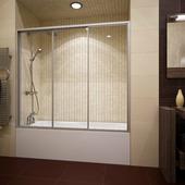 Шторка на ванну Gutewetter Practic Part GV-403A 158 (матовый хром/полистирол rain)