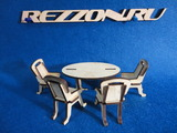 """Комплект мебели """"Стол малый """"Овал """"+ стулья """" (5 предметов)"""