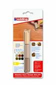 Набор восковой для ремонта деревянных полов Edding E-8902, термо, 3 оттенка бук-клен {E-8902#3-B#611}