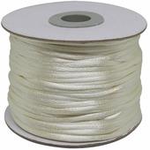 Шнур атласный, для воздушных петель, цвет: молочный, 2 мм x 45,7 м