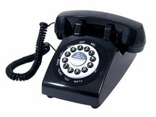 Телефон в стиле ретро черный 25*30*13 см 98908