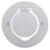 Блок встраиваемый на 2 модуля круглый - IP44. Цвет Нержавеющая сталь. Legrand(Легранд). 089701
