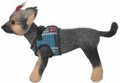 """Шлейка-жилет для собак """"Doggs"""", цвет: синий. Размер 1 (S)"""