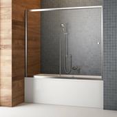 Шторка для ванны Radaway Vesta DWJ 150 хром+фабрик