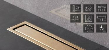 Душевой лоток Pestan Confluo Premium Line 300 Gold, 13100050