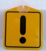 """Информационная табличка ОранжевыйСлоник на присоске """"Внимание"""", желтый"""