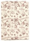 """Ткань Кустарь """"Винтажный кофе №2"""", 48 х 50 см. AM596002"""