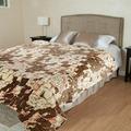 """Плед TexRepublic """"Камешки"""", цвет: коричневый, 200 х 220 см. 86563"""