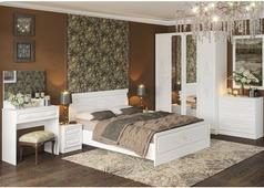 Спальня Магнолия с 4-ств. шкафом (белая структура)