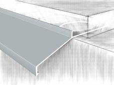 Отлив для балконов и открытых терас. анодированный серебро 250 см