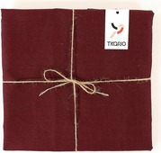 Скатерть Tkano Essential, TK18-TС0013, с декоративной обработкой, бордовый, 143 x 143 см