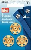"""Набор кнопок """"Prym"""", цвет: золотистый, диаметр 21 мм, 3 шт"""