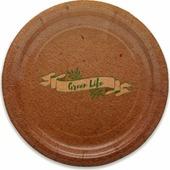 Тарелка бумажная Miland Green Life, 17 см, 6 шт