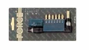 """1/4"""" Битодержатель магнитный с набором бит 25пр. (PH.1,2,3, PZ.1,2,3, шлиц.3-5, 5.5, 6.5мм, 6-г"""