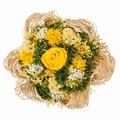 Букет из сухих и стабилизированных цветов Раффия желтый