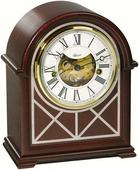 Настольные часы Каминные часы Hermle 23000-070340 в корпусе из красного дерева, Westminster 4/4, бой.