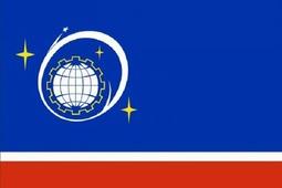 Флаг города Королев (Флажный шелк, 150 х 225 см)