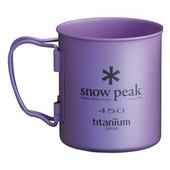 Кружка Snow Peak титановая Ti-Single 450 красный 0.45Л