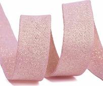Тесьма киперная металлизированная Ideal, TBYT10, розовый, 16 мм х 22,85 м