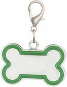 """Адресник V.I.Pet """"Кость"""", под гравировку, цвет: зеленый, 30 х 16 мм"""