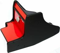 Консоль в авто АвтоБлюз для ГАЗель NEXT, ГР02803, ручка КПП на панели , глянец красный