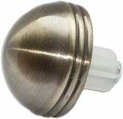 "Наконечник-заглушка Эскар ""Практик"", для металлического карниза, цвет: латунь, диаметр 16 мм, 2 шт"