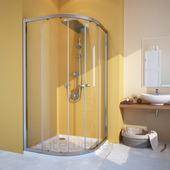 Душевой уголок Gutewetter Shape Round GK-864A 100x100 (золото металлик/стекло бронза)