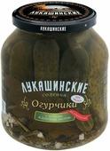 Лукашинские огурчики соленые по-старорусски с зеленью и дубовым листом, 670 г