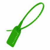 Пломбы пластиковые номерные УП-255, зеленые {55863} (1000 шт.)