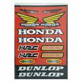 Наклейки TB Honda Dunlop red A4