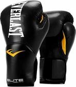 Боксерские перчатки Everlast Elite ProStyle, тренировочные, P00001240, черный, вес 12 унций