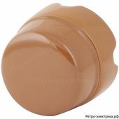 """Ретро коробка распределительная, фарфоровая, """"Salvador"""" D85 мм, цвет Какао, BOX2CO"""