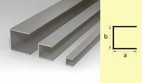 Швеллер алюминиевый 10*10*10 300см