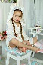 Халат для девочки молочный