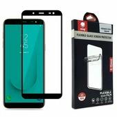 Ainy Гибридное стекло для Samsung Galaxy J6 2018 (гнущаяся полноэкранная стеклопленка), цвет чёрный