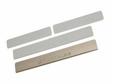 Накладки внутренних порогов DolleX для KIA Sportage (после 2015), штамп SPORTAGE (нерж. сталь) (к-т 4 шт.)