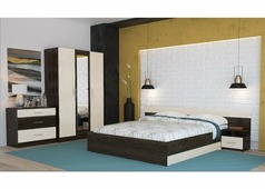 Спальня Уют с трехстворчатым шкафом (венге, дуб)