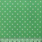 """Ткань Кустарь """"Горошек 2 мм"""", цвет: светло-зеленый, 48 х 50 см. AM556007"""
