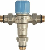 """Клапан сантехнический Valtec Thermomix трехходовой термостатический, 1/2"""", регулируемый"""
