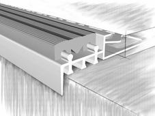 Профиль для ступеней 51851А, анодированный серебро 250 см