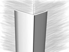 Уголок из нержавеющей стали 101077А зеркальная гладь 250см