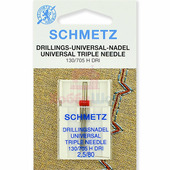 Игла тройная SCHMETZ №80/2,5 (1 шт.)