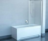 Шторка для ванны Ravak CVS1-80 L белый+транспарент
