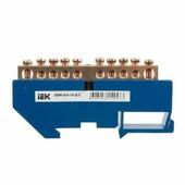 шина нулевая на DIN-изолятор ШНИ-6х9-10-Д-С IEK YNN10-69-10D-K07