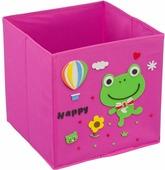 """Кофр для хранения Handy Home """"Лягушонок"""", с аппликацией, цвет: розовый"""