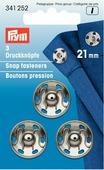"Кнопки для одежды ""Prym"", серебристый, 21 мм, 3 шт"