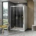 Душевая дверь Ravak 10DP4-140 белый + транспарент