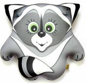Подушка-игрушка Штучки, к которым тянутся ручки антистрессовая Енот Тимоха, серый